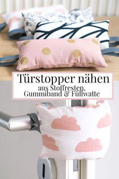 DIY: Türstopper / Türklinken-Puffer schnell aus Stoffresten, Gummiband & Füllwatte nähen | #nähen #schnell #einfach