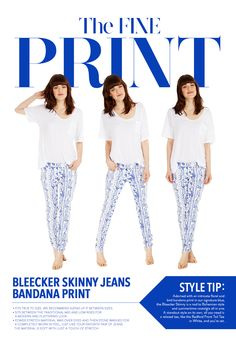 Fit Guide and Style Tips for the Bleecker Skinny Jeans in Bandana Print