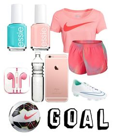 """""""Soccer practice"""" by hoppergrasser ❤ liked on Polyvore featuring moda, NIKE, PhunkeeTree, Essie y Dot & Bo"""