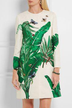 Dolce & Gabbana | Embellished embroidered cotton and silk-blend brocade coat | NET-A-PORTER.COM