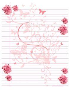 {free} Printable Ruled Paper - Pink