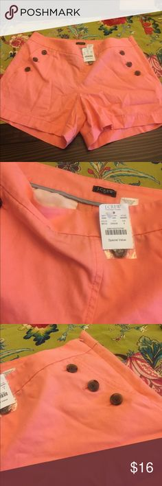 J. Crew Factory Sailor Shorts Brand new, with tags, J. Crew Factory sailor shorts in a pinkish/coral color J. Crew Factory Shorts