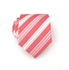 Mens Tie Coral Pink Pastel Peach Apricot White by TieObsessed, $19.95