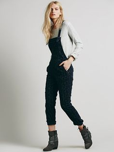 Free People Quinn Cord Overall, $98.00