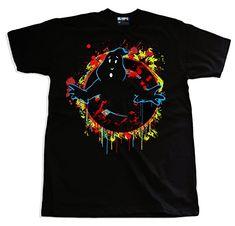 111ed10689 Ghostbusters Splash Art Grafitti T-shirt Trippy Visuals