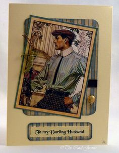 Handmade Card - Dapper Golfer £3.50
