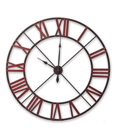 Take a look at this Red Cutout Wall Clock by Foreside on #zulily today!