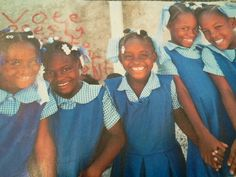 Haiti this is how the children dress for school.