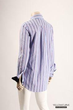 옐로우커브 모델리스트 마스터클래스 스트라이프셔츠 패턴메이킹 소재 : 면 가공 디테일 : 한장단작, 배색 ...