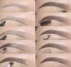 Augenbrauen Make Up; Make Up Seems; Heavy Make-up; Gentle Make-up; Make Up Augen; Eyebrow Makeup Tips, Eyeshadow Makeup, Lip Makeup, Makeup Steps, Makeup Eyebrows, Brown Eyeshadow, Eyebrow Pencil, Makeup Blog, Bold Eyebrows
