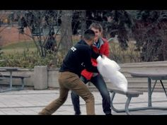 This dude starts random pillow fights to reduce exam stress.