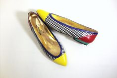 Vintage Leather Flats Womens Size 7 Shoes  by MODernThrowBack