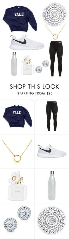 """""""Back to school!!! ♡♡"""" by lulu7899-1 ❤ liked on Polyvore featuring NIKE, Marc Jacobs, S'well and Kobelli"""