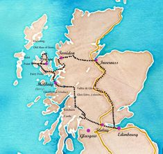 road trip in Scotland: itinerary, budget, hikes . - map, road trip itinerary in Scotland - Road Trip Van, Road Trip Hacks, Europa Tour, England Map, Fairy Pools, Camping List, Viewing Wildlife, Voyage Europe, Camping Activities