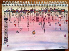 Tekenpraktijk De Innerlijke Wereld: Journal Journey (dagboekkrabbels) dangles