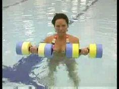 Water Aerobics Exercises : Water Aerobics Triceps Curls