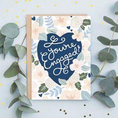 Floral Engagement Card