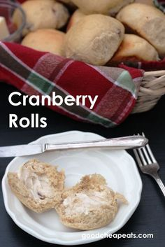 "Whole Wheat Cranberry Rolls | Good Cheap Eats - these homemade rolls are easy and delicious. They're good for you without tasting too ""healthy""."