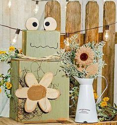 DIY Easter Wood Crafts which are a result of Labour, Love And Patience - Hike n Dip 2x4 Crafts, Wood Block Crafts, Scrap Wood Projects, Primitive Crafts, Wooden Crafts, Cute Crafts, Craft Projects, Wood Blocks, Primitive Signs