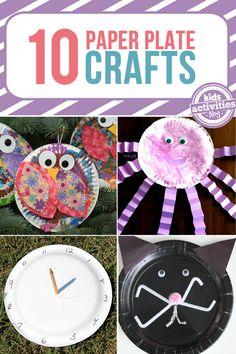 10 {Creative} Paper Plate Crafts - Kids Activities Blog Craft Activities For Kids, Preschool Crafts, Projects For Kids, Fun Crafts, Crafts For Kids, Children Crafts, Craft Ideas, Educational Activities, Toddler Activities