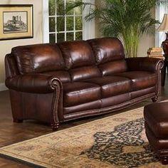 James Leather Sofa In Nebraska Furniture Mart