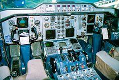 Airbus 300 cockpit designed by Porsche Design.