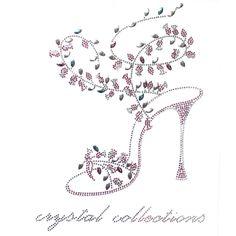 Rhinestone Iron on Transfer Hot Fix Motif Fashion Design Princess Glass Slipper | eBay