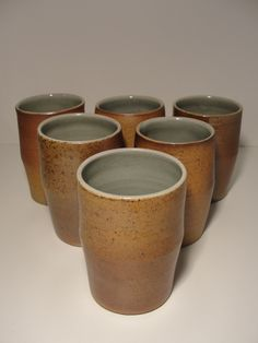 Wood Fired Beakers by Andrew Pentland Ceramics