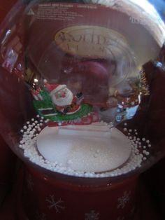 Santa & Reindeer Musical Snow Globe Lights up Multi Colors and Plays 10 Christmas Songs. $15.00 #bestseller