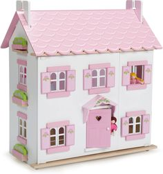 Le Toy Van's Sophie's House is a beautifully painted dolls house with lost of exciting features to encourage imaginative play.  With three floors to furnish and explore, including a staircase and removable roof panels, this dolls house is full of surprises! Made of sustainable wood, the house is hand-finished with beautiful attention to detail including flower motifs and removable flower boxes.   Product Features:  Simple slot-together assembly - no nails or glue required Compatible with…