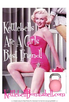Kettlebells are a girls best friend! #Kettlebellbombshell #Retro #Pinup #Vintage
