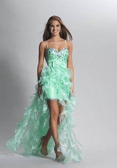 Column Spaghetti Straps Organza Natural Waist Short Dress For Prom
