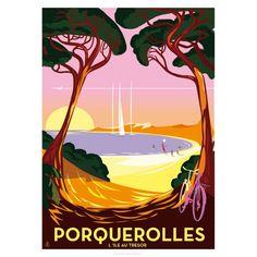 Affiche Monsieur Z - Boutique souvenirs de Hyères et Porquerolles