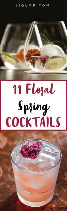 11 #floral #cocktails just in time for #Spring!