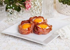 Toastkörbchen mit Ei und Speck Rezept Panna Cotta, Ethnic Recipes, Food, Food Food, Simple, Recipies, Dulce De Leche, Essen, Meals