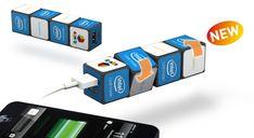 Innovatieve giveaway: Uniek design met de Rubik's® Powerbank. Ontwerp geheel naar wens! Usb Flash Drive, Giveaway, Gadgets, Appliances