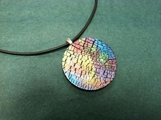 Shiny crackles---polymer clay with mica powder and glossy finish