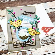 Creating a Bird House with Birds and Branches - Stamping Bees