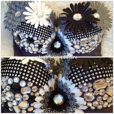 Black and White Sparkle Bra  Size 36C  by ElectronicCouture, $35.00