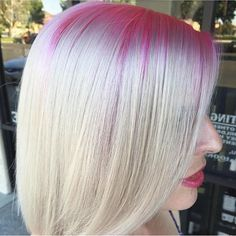 Blushing Pink Base giving way to flawless Nordic blonde hair by @makeupbyfrances #hotonbeauty #hothairvids