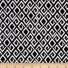 Michael Miller Citron Gray Aziza Black from @fabricdotcom%0A%0AFrom Michael Miller, this cotton print is perfect for quilting, apparel and home decor accents. Colors include black and white.