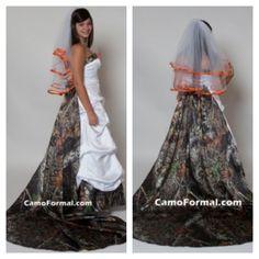 Camo Wedding Dress! <3
