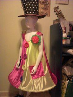 traje de payaso con reciclados