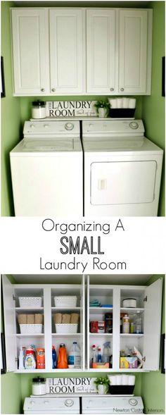 Organizing A Small Laundry Room Tips ~ Newton Custom Interiors
