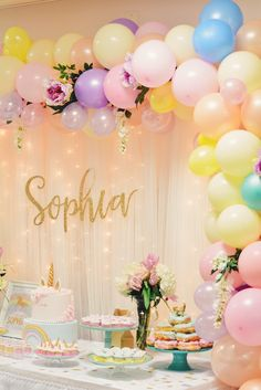 Don't forget to check it out Sophia's #unicorn birthday party on the blog! and find out how I created this balloon arch by myself and super cheap! ✨ http://liketk.it/2qSiY #liketkit @liketoknow.it
