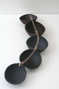 Art Gives Rise to Art — boudhabar: sandrine hurel Ceramic Tableware, Ceramic Clay, Ceramic Bowls, Ceramic Pottery, Pottery Art, Contemporary Ceramics, Modern Ceramics, Pottery Techniques, Kintsugi
