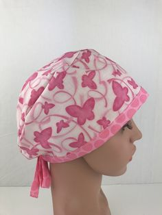 Breast Cancer Pixie Cap – Oksana's Creations Surgical Caps, Pixie Styles, Scrub Hats, Drip Dry, Hats For Women, Breast Cancer, Scrubs, Hand Sewing, Hair Clips