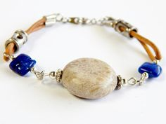 Fossil Coral Bracelet by CreativeToTheHeart on Etsy