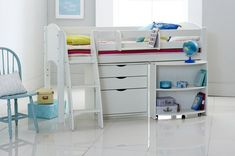 Scallywag Cabin Bed with Pull out Desk and Chest