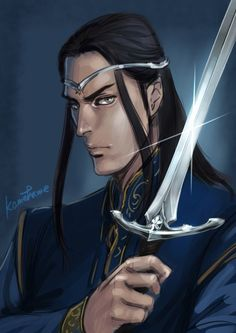 Fingolfin with sword Ringil by ironhill